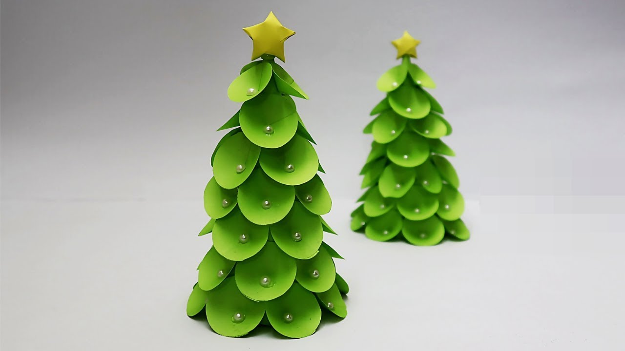 DIY-How to make Tabletop Paper Christmas Tree | Christmas ...