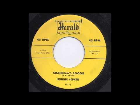 LIGHTNIN' HOPKINS - GRANDMA'S BOOGIE - HERALD