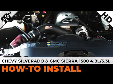 Cold Air Intake For Chevy Silverado 1500 >> 1999 - 2004 Chevy Silverado 1500 & GMC Sierra 1500 4.8L/5.3L Air Intake Installation - YouTube