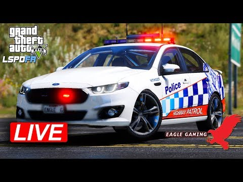 GTA V | Australian LSPDFR Live! | Route 1 Patrol in the NSW Police XR8 FGX