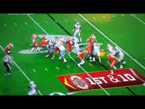OSU vs CLEMSON #42 GRABBING a little more than the football last night.