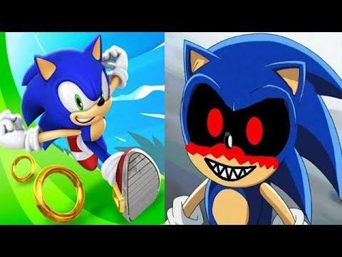 Sonic Dash vs SONIC 2 EXE