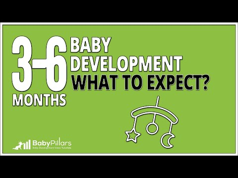 3 - 6 Months baby development: what to expect? 3 - 6 month baby development video tutorials