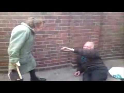 Old Lady Showdown at Mayday Hospital in Croydon