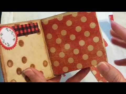 Santa Snow Mini paper bag junk journal