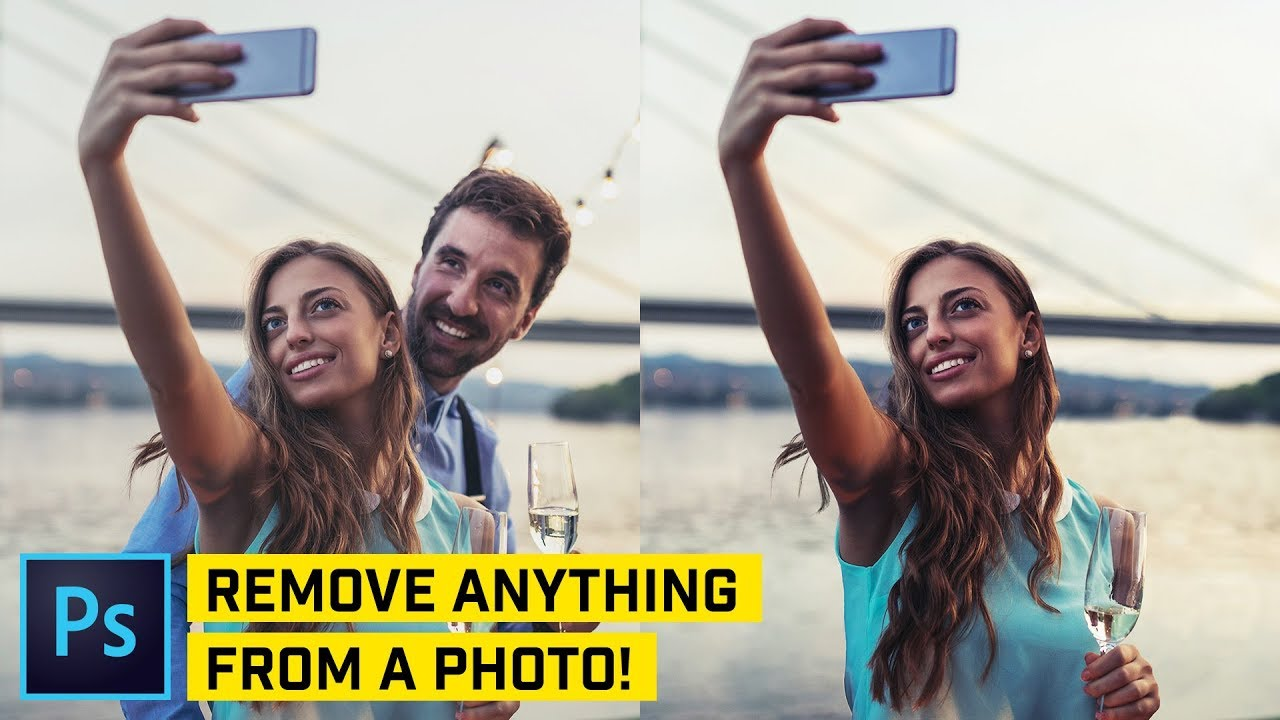 Remove DIFFICULT Objects From ANY Photo - Photoshop Tutorial