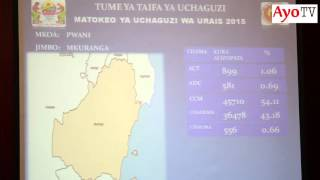 Matokeo kura za Urais 2015 Nachingwea, Mkuranga, Mafia