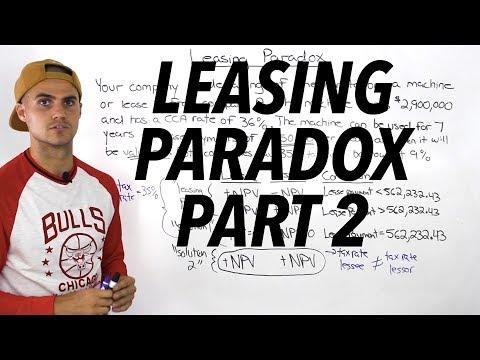 FIN 401 - Leasing Paradox (Part 2) - Ryerson University
