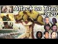 Attack on Titan 3x20 Reactions | Great Anime Reactors!!! | 【進撃の巨人】【海外の反応】
