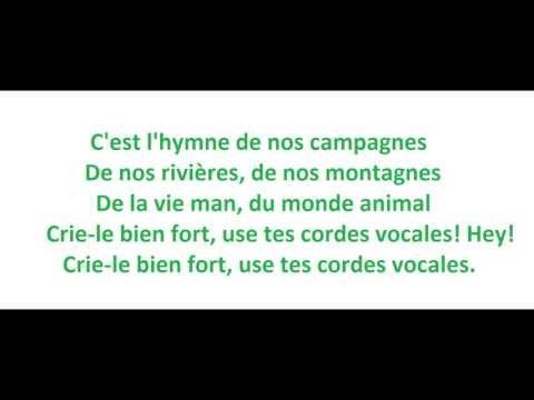 Tryo - L'hymne de nos campagnes - paroles