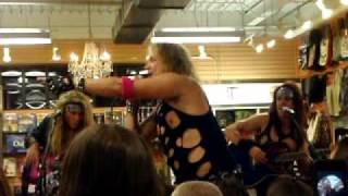 Steel Panther Live Death to all But Metal Newbury Comics Store in Norwood Ma 10/06/09