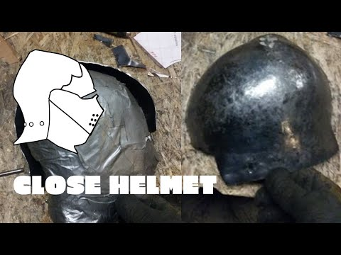 Medieval Close Helmet 1: Making The Pattern And Starting The Skull