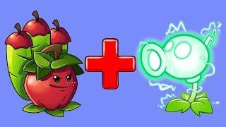 Растения против Зомби 2 - ЯБЛОЧНАЯ МОРТИРА + ЭЛЕКТРО ГОРОХ = ?