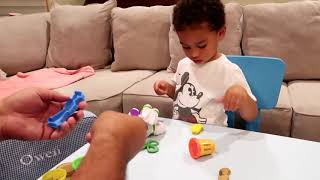 Unboxing Play-Doh Toy Story Buzz Lightyear Play Set & more with Owen