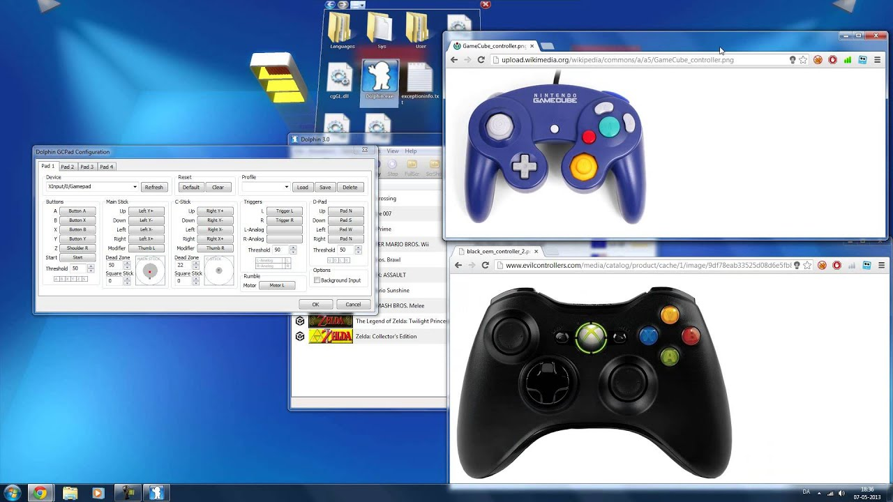 How to set up an Xbox 360 controller in Dolphin Gamecube ...Xbox 360 Controller Emulator