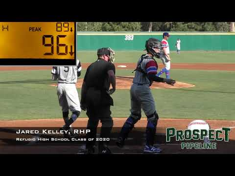 Jared Kelley Prospect Video, RHP, Refugio High School Class of 2020 (Area Code Games)