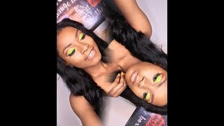 How To Slay Neon Green Cut Crease Makeup Tutorial