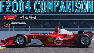 F1 2018 vs Assetto Corsa│Who Did It Better? (Ferrari F2004 Comparison)