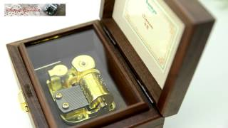 Sankyo 23音木製音樂盒 卡農 HD