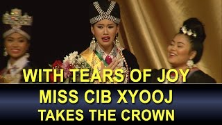 3 HMONG NEWS: Tearful miss Cib Xyooj takes the crown of Miss Hmong MN 2017.  We congratulate her!