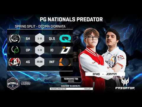 PG NATIONALS PREDATOR - DECIMA SETTIMANA -  4G vs INF