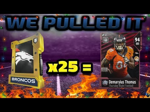 LIMITED EDITION DEMARYIUS THOMAS PULL | MADDEN 18 ULTIMATE TEAM PACKS
