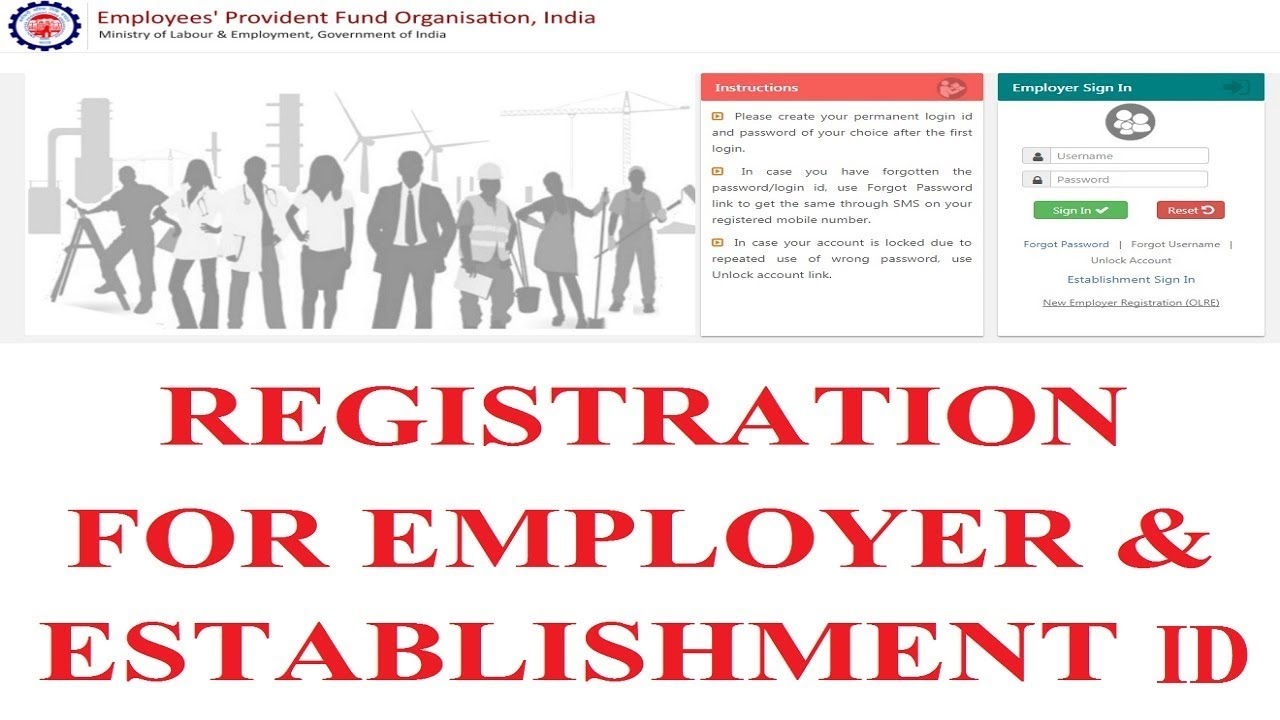 how to registration for employer establishment id on new portal