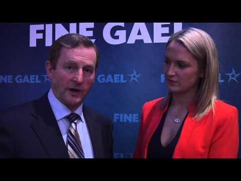 An Taoiseach Enda Kenny With Helen McEntee