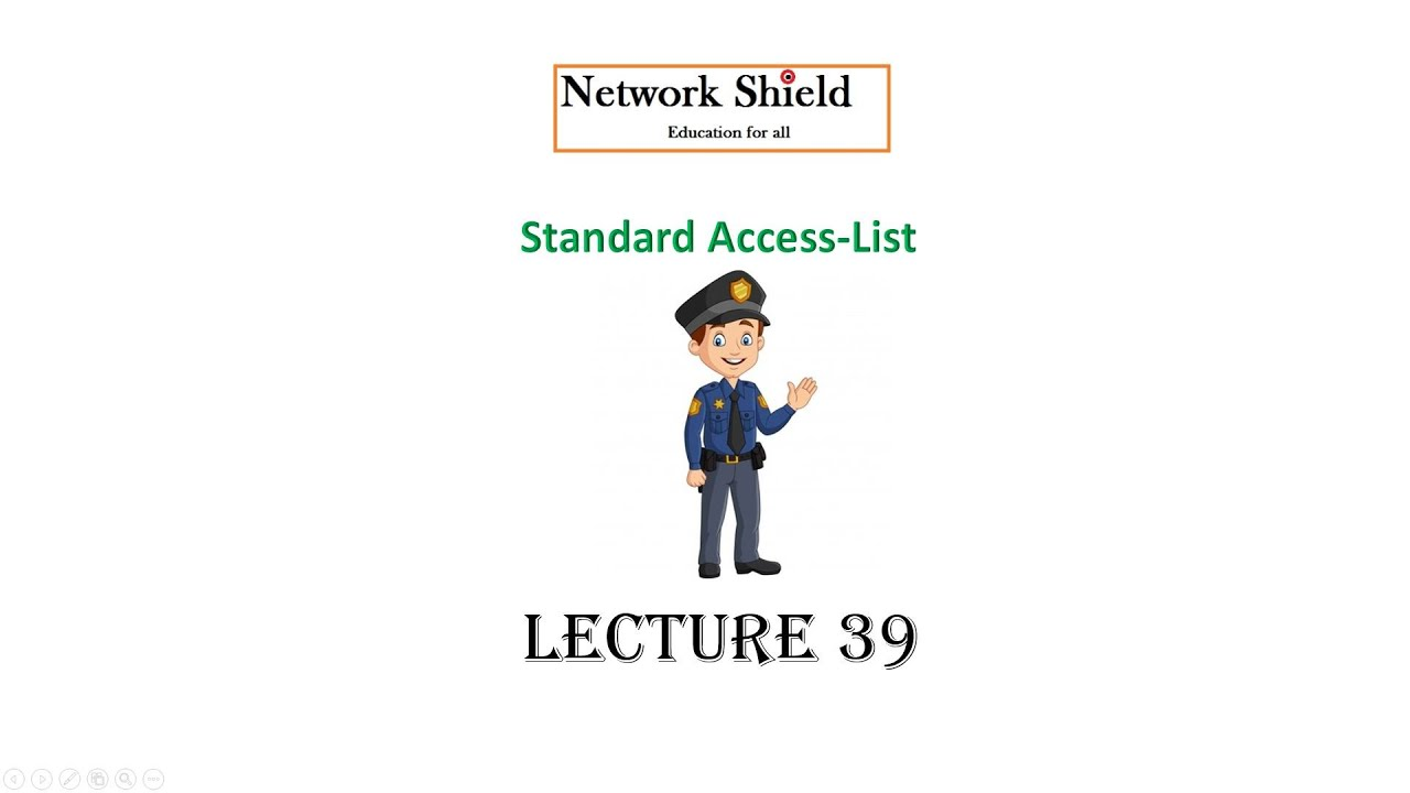 Lecture 39: 200-301 CCNA |  STANDARD ACCESS CONTROL LIST | ACL