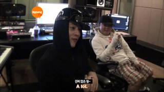 G-Dragon Working/Hanging Out With Teddy & YG [HD] [ENG]