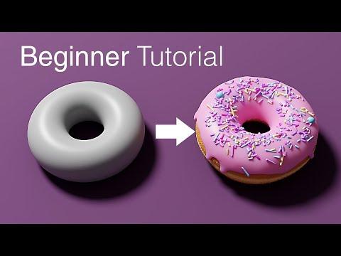 Blender 2.8 Beginner Tutorial - Part 1