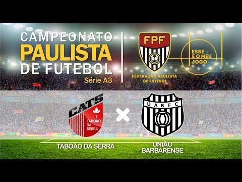 Gol Taboão da Serra x União Barbarense - Campeonato Paulista de Futebol - 14/02/2018