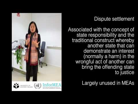 Dispute settlement in multilateral environmental agreements
