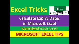 Calculate Expiry Dates in Microsoft Excel : Excel Tips and Tricks [Urdu / Hindi]