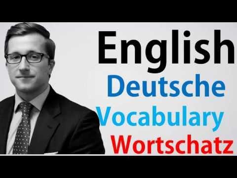 Video#85 Deutsch-Englisch Wortschatz Übersetzung German English Oxford und Camabridge Standard