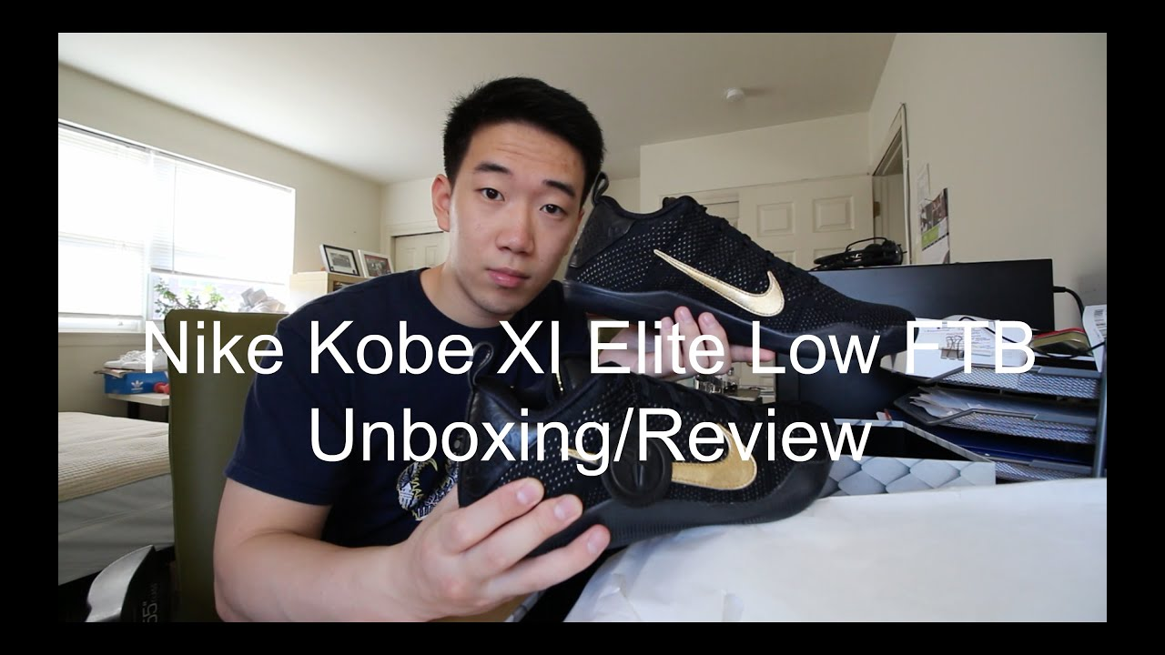 quality design 1cbbe cbfae Nike Kobe XI Elite Low FTB Unboxing Review