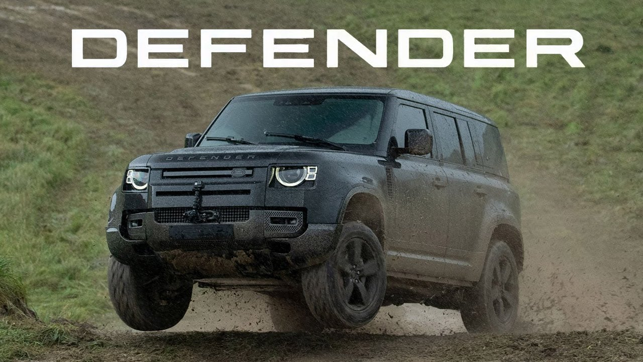 2020 land rover defender performs outrageous stunts