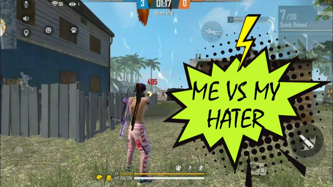ME VS MY HATER/1 VS 1/CLASH SQUAD/FULL MATCH