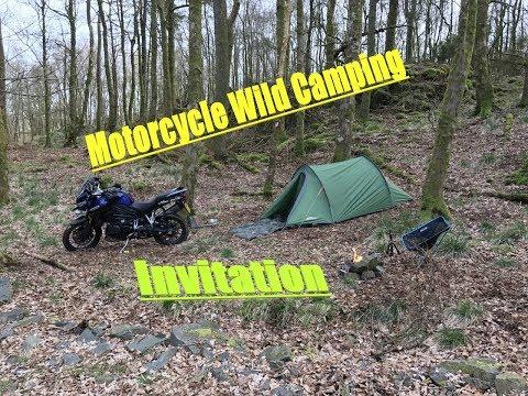 Motorcycle Wild Camping Invitation.