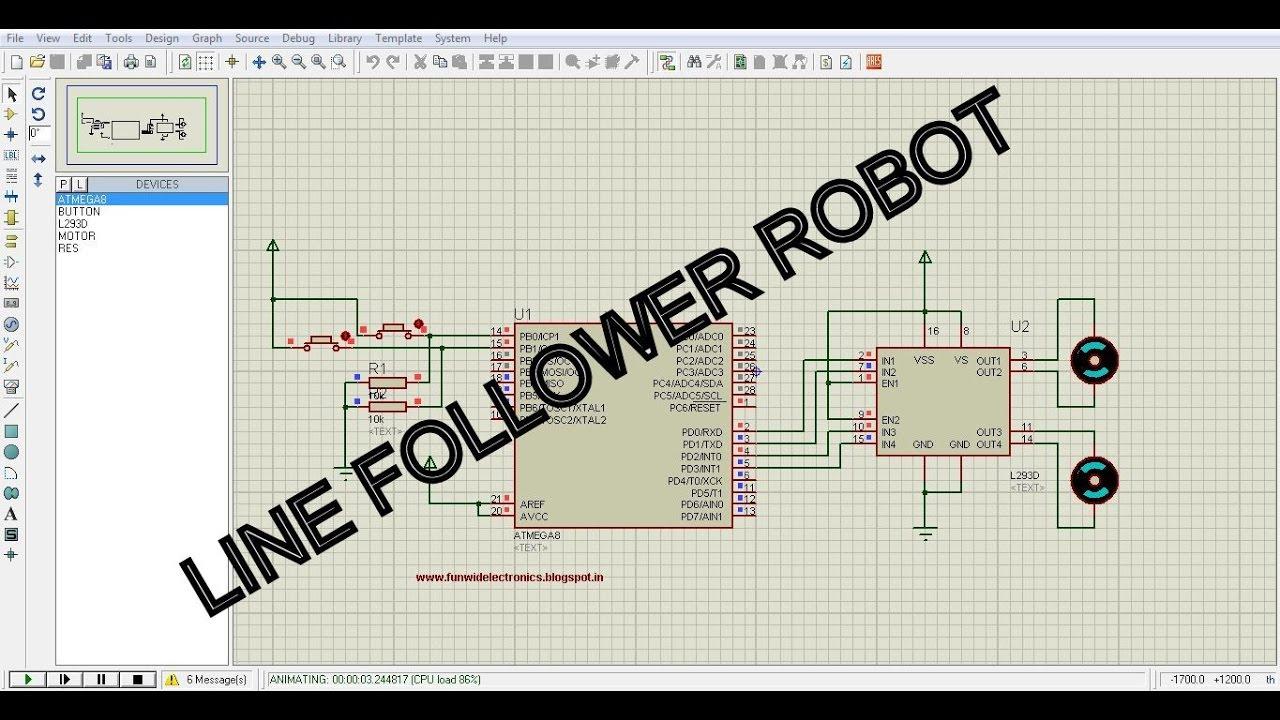 Fun with electronics and sensors: Line follower robot using Atmega8