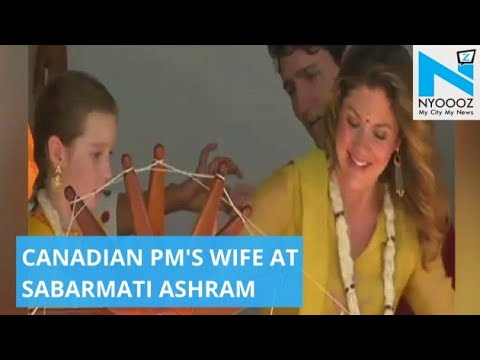 Watch: Canadian PM's Wife Sophie Spins 'Charkha' | Canadian PM Visits India | NYOOOZ TV