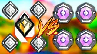 Valorant: Can 1 RADÏANT Carry 4 Silvers VS 4 Diamond Players?