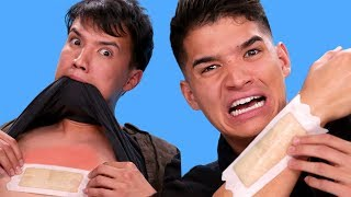 Spell it Wrong = WAX a Body Part! | Alex Wassabi VS LazyRon