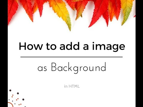 How To Add A Picture As Background In HTML (with Notepad++)
