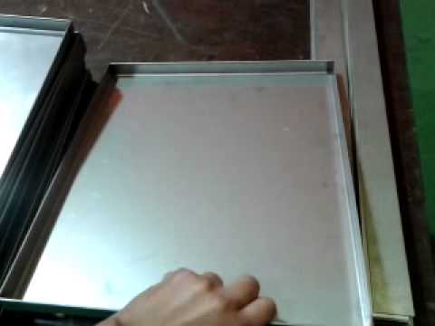 Fabricacion de bandejas en acero inoxidable youtube - Figuras de acero inoxidable ...