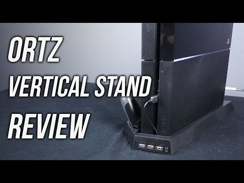 Ortz PS4 Vertical Stand Review: Dual Controller Charger, USB Hub, Cooler