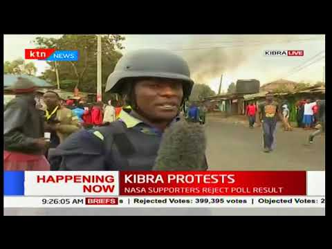 NASA supporters in Kibra protest as a sign of rejection of the polls