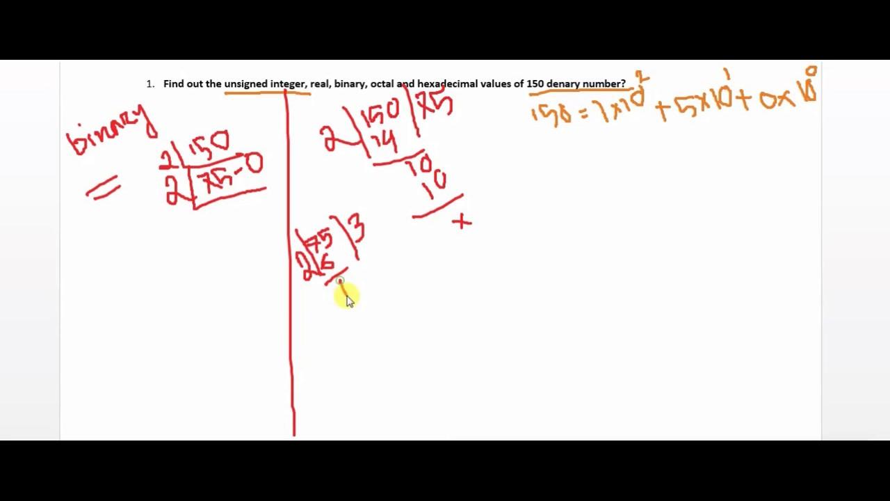 Denary number to Unsigned Integer | Real | Binary | Octal | Hexadecimal | Bangla