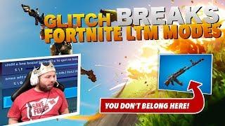 GLITCH in LTM modes ALLOWS random non-LTM guns! (FREE WINS) - Fortnite Battle Royale