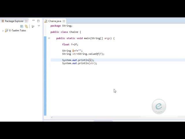Java : Conversion type primitif vers une chaîne  de caractères